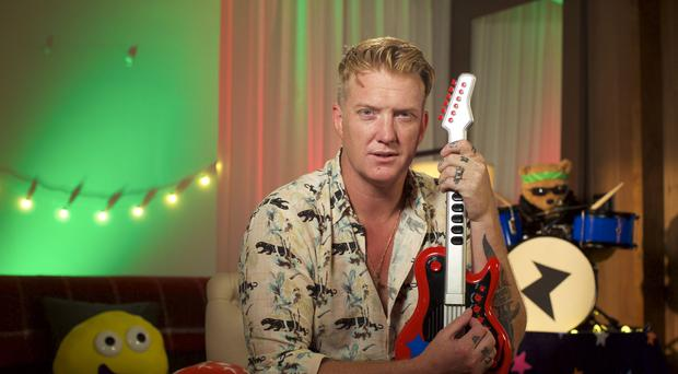 Queens Of The Stone Age frontman Josh Homme reading his CBeebies bedtime story (Pete Dadds/BBC)
