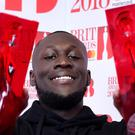 Stormzy with his British Album of the Year and British Male Solo Artist awards (Ian West/PA)