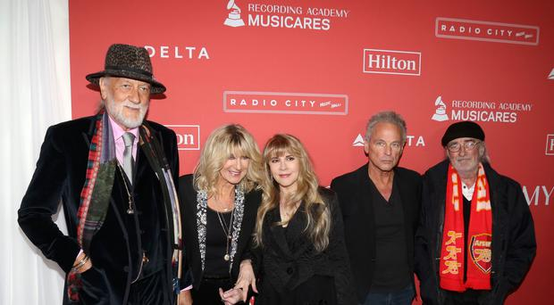 (Left to right) Mick Fleetwood, Christine McVie, Stevie Nicks, Lindsey Buckingham and John McVie of Fleetwood Mac this year