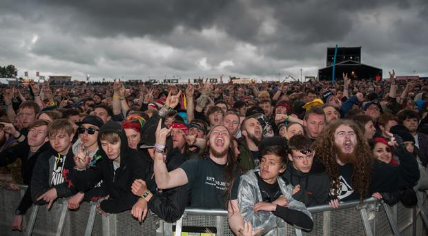 Revellers at Download (Katja Ogrin/PA)
