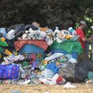 Rubbish following the Glastonbury Festival at Worthy Farm in Pilton, Somerset (Ben Birchall/PA)