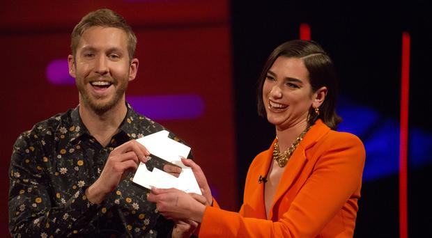 Calvin Harris and Dua Lipa are number one for a second week with One Kiss (Isabel Infantes/PA)