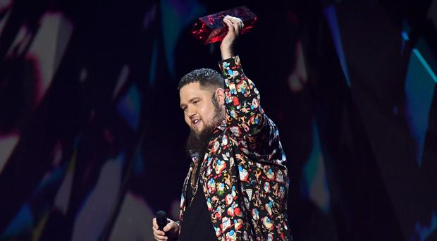 Rag 'n' Bone man accepts the award for Best British Single during the 2018 Brit Awards (Victoria Jones/PA)