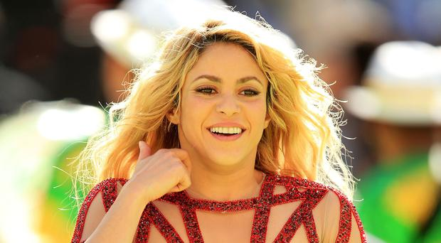 Shakira shared her pride over partner Gerard Pique's 100 caps for Spain (Mike Egerton/PA)