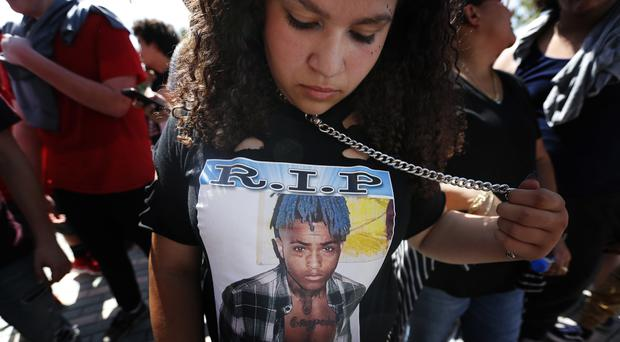 XXXTentacion fans gather to mourn the rapper (Brynn Anderson/AP)