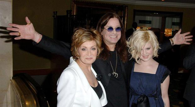 Sharon, Ozzy and Kelly Osbourne (PA)
