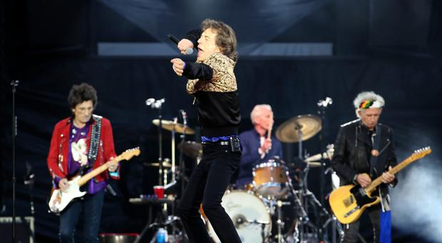 Ronnie Wood, Mick Jagger, Charlie Watts and Keith Richards of The Rolling Stones (PA)
