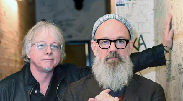 Michael Stipe (right) of R.E.M. announced his departure from Instagram with chirping crickets (Victoria Jones/PA)