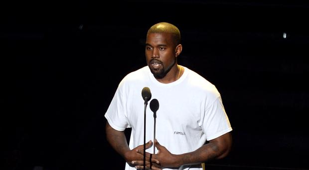 Kanye West previews new music on social media. (PA)