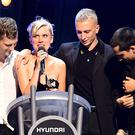 Wolf Alice accept the 2018 Hyundai Mercury Music Prize (Ian West/PA)