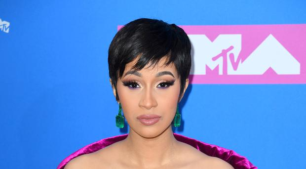 Cardi B celebrated her first wedding anniversary by sharing a picture of the secret ceremony (PA/PA Wire)