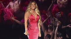 Mariah Carey performed her latest single on television for the first time at the AMAs (Matt Sayles/Invision/AP)