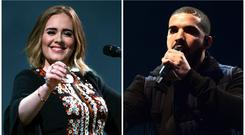 Drake overwhelmed as he learns Adele was at his concert – and loved it (PA Wire/PA)