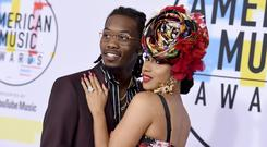 Offset and Cardi B at the American Music Awards in October (AP)