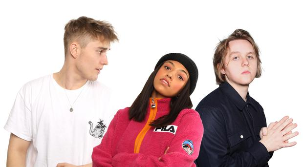 Sam Fender (left), has been named the Brits Critics's Choice award winner, ahead of Mahalia (centre) and Lewis Capaldi (The BRIT Awards/PA)