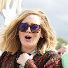 File photo dated June 27, 2015 showing Adele and Simon Konecki backstage at Glastonbury. The couple have announced they are separating.