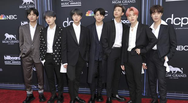 K-pop superstars BTS were named social artists of the year for the third time in a row (Richard Shotwell/Invision/AP)
