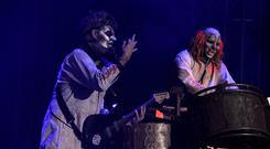 Sid Wilson aka Ratboy and Shawn Crahan aka Clown from Slipknot (Lewis Stickley/PA)