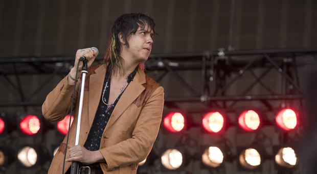 Julian Casablancas during The Strokes' last London gig in 2015 (PA file)