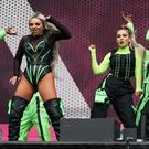 Little Mix bring neon green and big energy to Radio 1's Big Weekend in Middlesbrough (Owen Humphreys/PA)