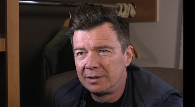 Rick Astley at the Isle of Wight Festival (PA)