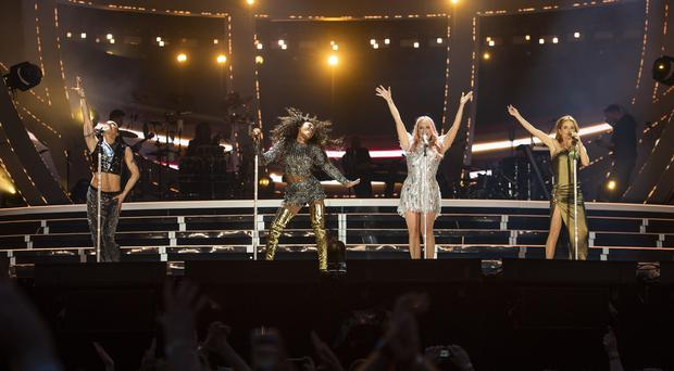 The Spice Girls have closed their final night at Wembley Stadium (Andrew Timms/PA)