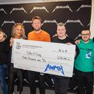 Metallica gift a cheque for £40,000 to Coffee4Craig (All Within My Hands/Metallica)