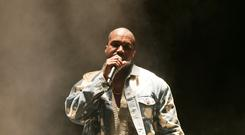 Kanye West headlines the the Pyramid Stage at the Glastonbury (Yui Mok/PA)