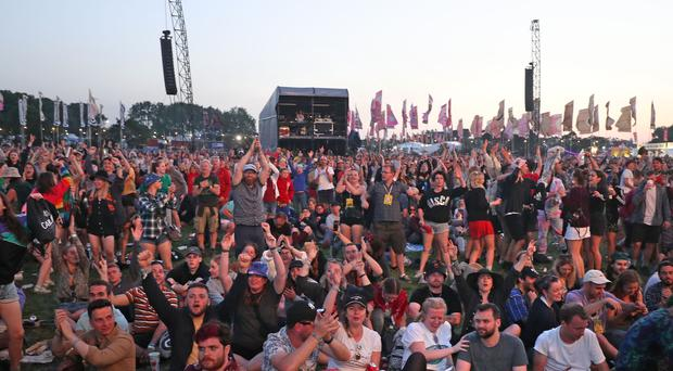 Temperatures at the Glastonbury Festival will not cool down until Sunday, forecasters say (Yui Mok/PA)