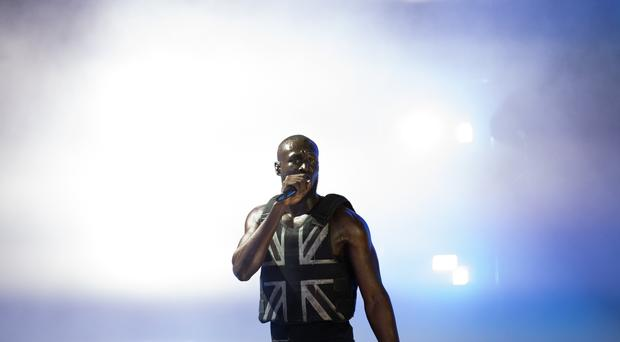Stormzy performing on the Pyramid Stage at Glastonbury (Aaron Chown/PA)