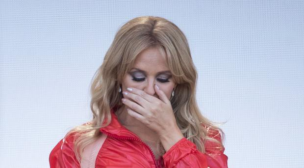 Tearful Kylie Minogue recalls missing 2005 Glastonbury after cancer diagnosis