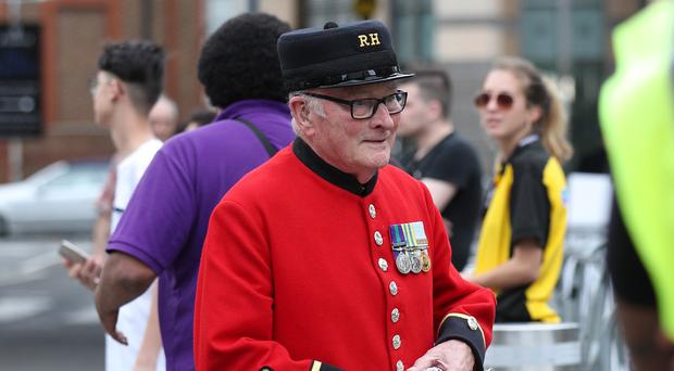 Chelsea Pensioner Colin Thackery has signed a record deal (Yui Mok/PA)