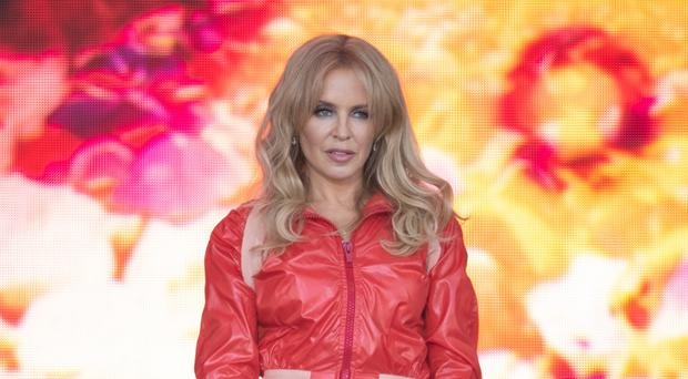 Kylie Minogue performing on the Pyramid Stage (Aaron Chown/PA)