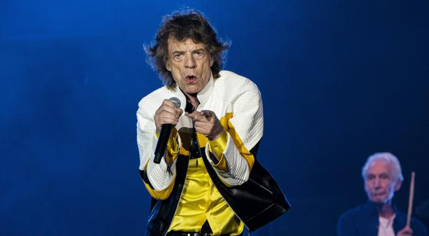 Sir Mick Jagger poked fun at Donald Trump during a performing in Massachusetts (Robert E Klein/Invision/AP)