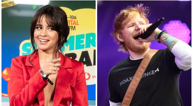 Camila Cabello has hailed 'kind, genuine, awesome' Ed Sheeran as he drops new album (PA/PA Wire)