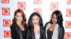 Keisha Buchanan (right), Mutya Buena (centre) and Siobhan Donaghy (left) in 2012 (Dominic Lipinski/PA)
