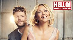Kimberley Walsh and Jay McGuiness (Hello! magazine/PA)