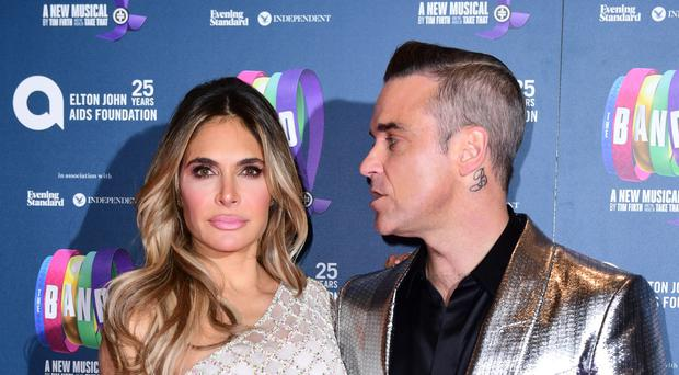 Ayda and Robbie Williams (Ian West/PA)