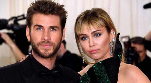Miley Cyrus has revealed a new song about break-ups, just after splitting from husband Liam Hemsworth split (Jennifer Graylock/PA)