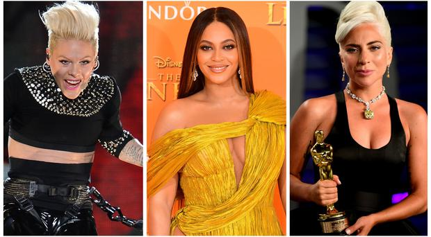Beyonce, Pink or Lady Gaga? American singer voted UK's favourite female artist (PA Wire/PA)