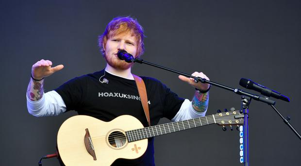 Ed Sheeran and Stormzy are riding high in the charts with their new single (Ben Birchall/PA)