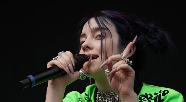 Billie Eilish thought the Spice Girls were a fictional band (Owen Humphreys/PA)