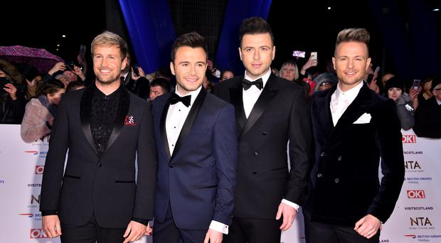 Westlife's Kian Egan, Shane Filan, Markus Feehily and Nicky Byrne (left-right) (Matt Crossick/PA)