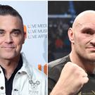 Robbie Williams and Tyson Fury (PA)
