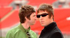 Noel and Liam Gallagher (Zak Hussein/PA)