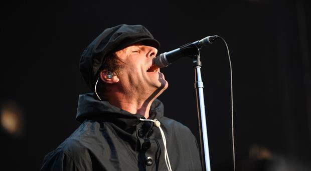 Liam Gallagher performing during the Peaky Blinders Festival in Birmingham (Jacob King/PA)
