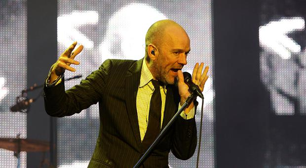 Michael Stipe of REM on stage (Niall Carson/PA)