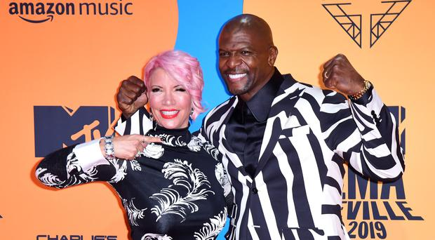 Rebecca King-Crews and Terry Crews attending the MTV Europe Music Awards 2019, held at the FIBES Conference and Exhibition Centre of Seville, Spain (Ian West/PA)