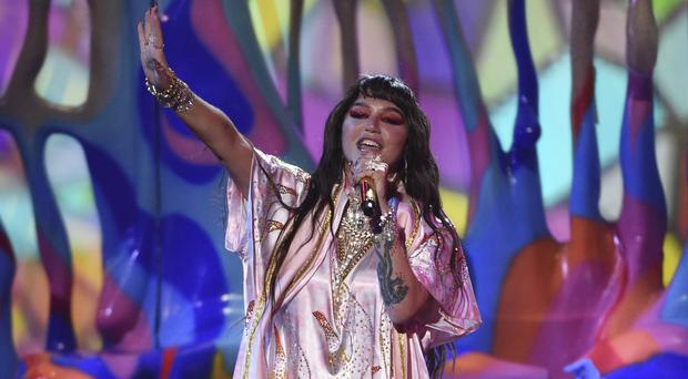 Kesha made a triumphant return to the American Music Awards following a six-year absence (Chris Pizzello/Invision/AP)