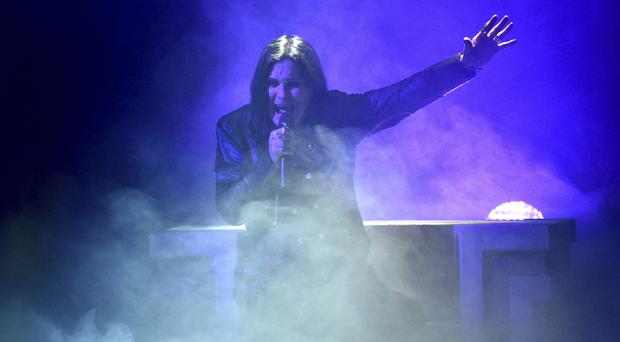 Ozzy Osbourne returned to the stage for the first time since injuring his back in a fall at home earlier this year (Chris Pizzello/Invision/AP)